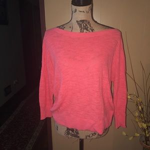 Express Top Orange shirt 3/4 sleeves Size Small